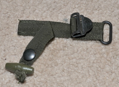 Military radio pouch buckle assembly