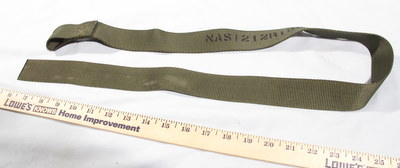 Mil Spec 1-1/2 inch Webbing Strap with loop 3 feet 5 inches long un-used NAS1212R15JK42