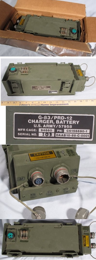Battery Charger G-83 / PRD-12 C5156690-1 un-used for Light Weight Manportable Direction Finding Radio