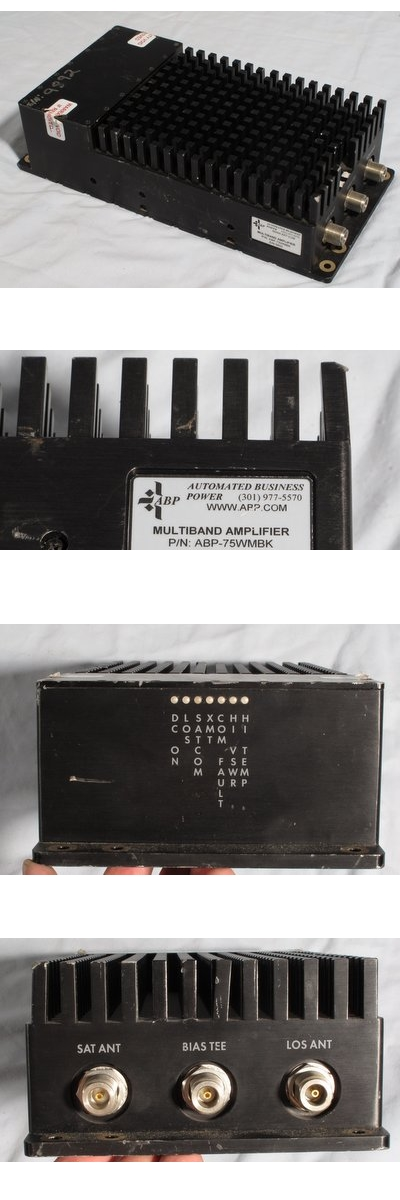 Multiband Amplifier for PRC-117F AN/PSC-5 etc. Automated Business Power ABP – 75WMBK 75 Watts 30-512MHz