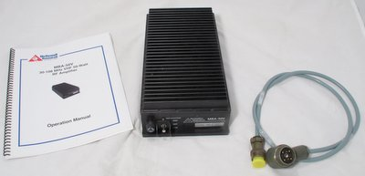 McDowell Research MBA-50V 30-108MHz VHF 50 Watt Amplifier with user manual and power cable un-used