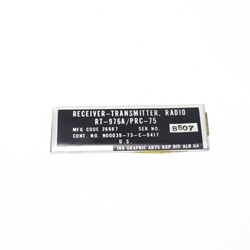 Name Plate PRC-75 RT-976A