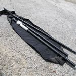 "Military Antenna Aluminum Mast Extension Kit in Bag two poles 0349519-01 approx 8' long and 3"" dia"