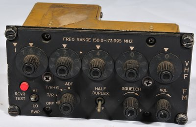 Aircraft radio control head C-9222 ARC-160