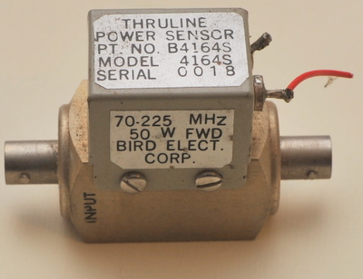 Bird wattmeter Thruline power sensor B4164S model 4164S 70-225MHz 50W forward BNC