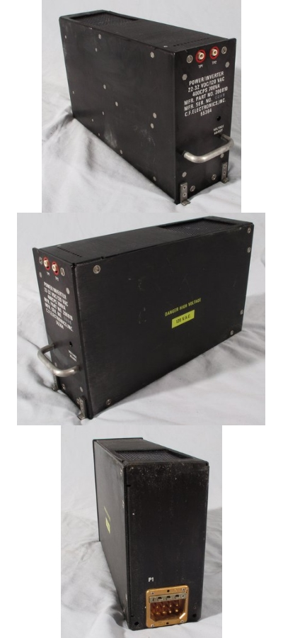 CF Electronics 200810 Military Aircraft Radio Power Inverter 22-32VDC/120VAC 400CPS 700VA